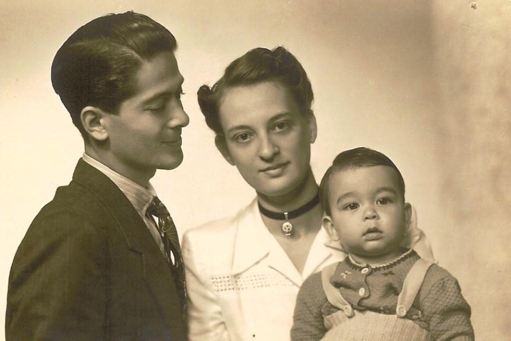 Met mijn beide ouders.