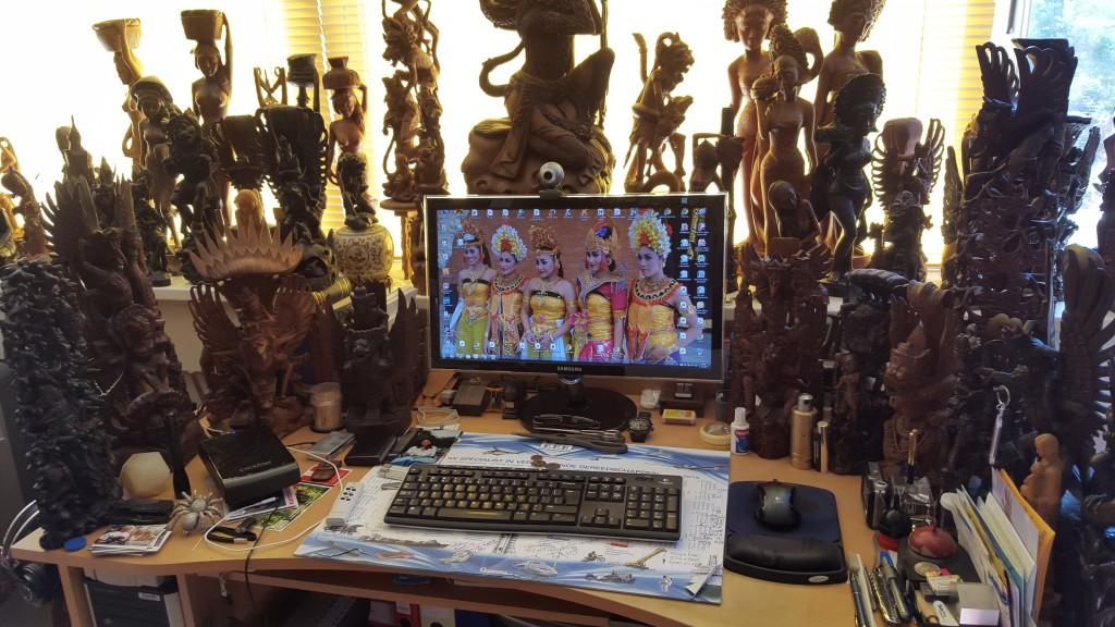 Ik heb toch geen vervelende werkplek op mijn hobbykamer, de zolder.