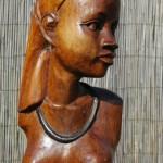 """Buste Afrikaanse vrouw. Sommige beelden hebben gewoon """"iets"""" zonder dat ze er qua kwaliteit in hoge mate uit springen. Dit is zo'n beeld."""