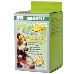Het Dennerle product: Plantagold 7, capsules met plantenmest
