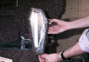 Paludarium aluminiumfolie als reflectiemateriaal