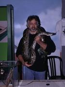 Reptilion Bart met Python mollurus bivittatus