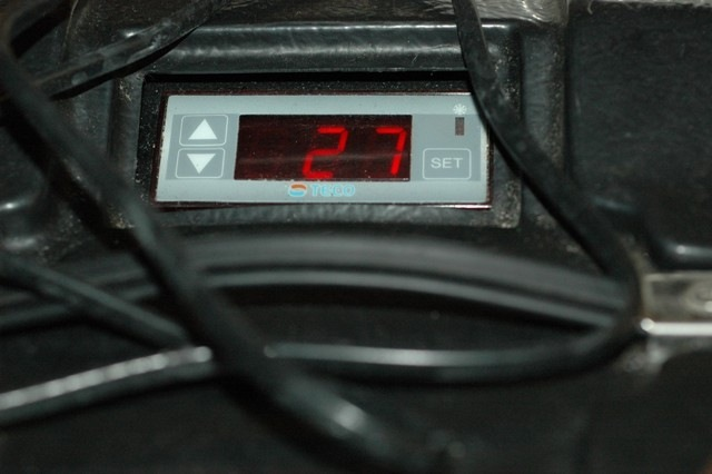 Nu zit er ook de koeler die nauwkeurig kan worden afgesteld en afgelezen, een thermometer is niet meer nodig.