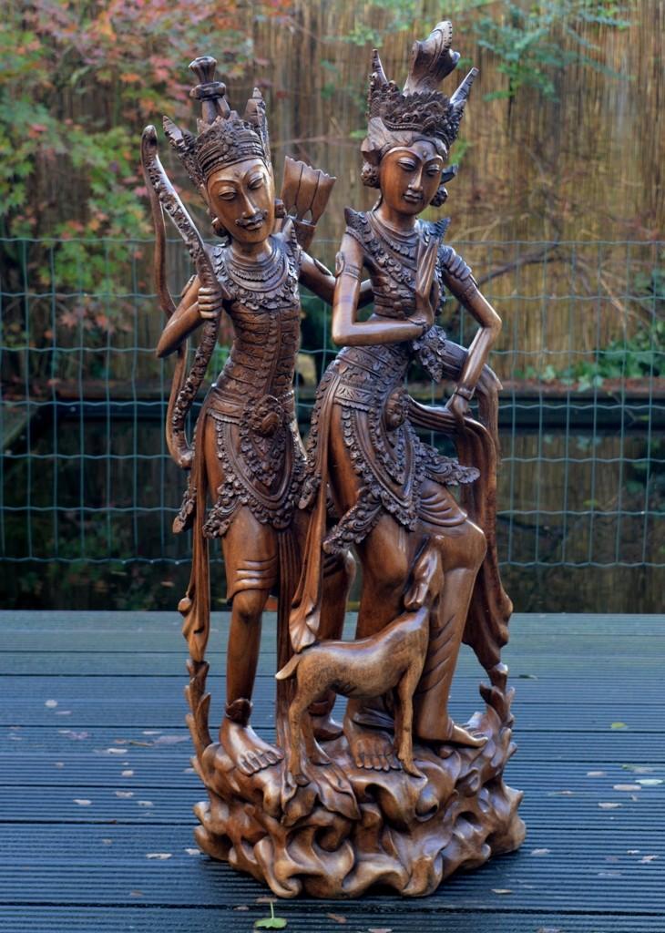 Het verhaal van Rama en Sita staat opgetekend in de Ramayana.