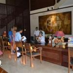 De ontvangstbali van Hotel Risata in Kuta