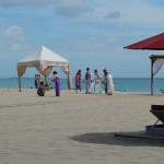 Balinees bruidspaar bezig was een fotoshoot